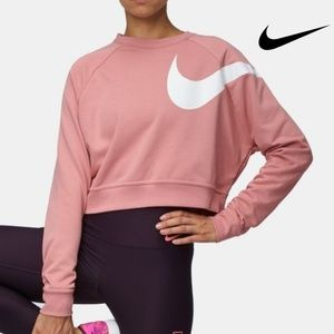 Nike Dry Versa Long Sleeve Cropped Training Top